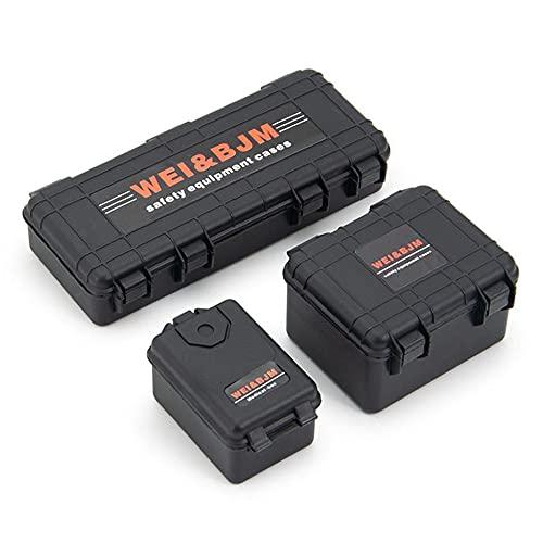 3 unids/set mini caja de herramientas portátil almacenamiento caja de plástico accesorios control remoto coche universal decoración herramienta