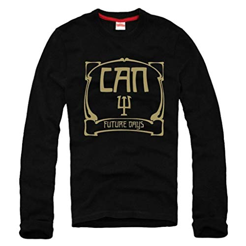 CAN - Camiseta de manga larga con diseño de Prog Rock KRAUTROCK Future Days Tangerine Dream, Negro, X-Large
