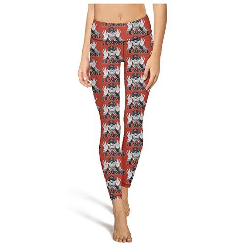 GAKIIER Women Girls Yoga Pants with Pockets Mesh Lil-Wayne-Logo-Black-red- Mesh Pants Girls
