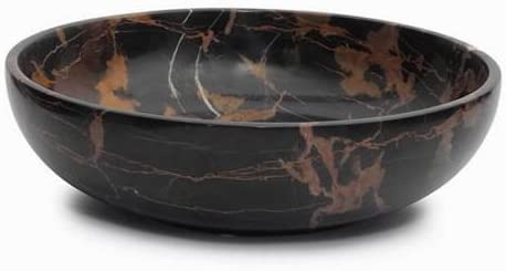 Topics on TV Khan Imports Large Black and Bowl Fruit Brown Decorative Max 42% OFF Marble