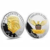 Yuanan Moneda conmemorativa del presidente Donald J. Trump chapado en oro plata EAGLE Keep America Great 45th President Novelty Regalos de moneda