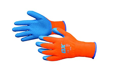 Ox Ox-s248610 thermique Gants grip, Orange/beige, taille 10