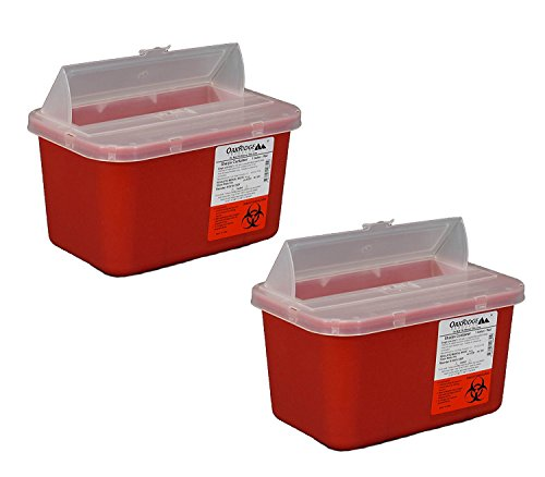 One Gallon Sharps Containers with Pop Up Lid (Two Pack)