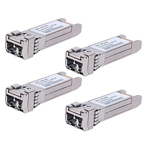 4 Pack 10G Sfp LC MMF300m 10GBase-SR SFP+ Transceiver, 10G 850nm MMF,...
