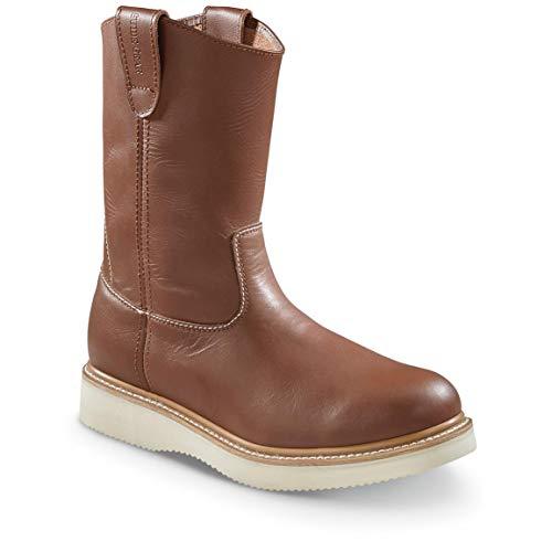 "Guide Gear Men's 10"" Wellington Wedge Work Boots, Brown, 11D (Medium)"