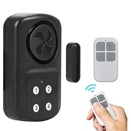 Tür- und Fensteralarm kabellos – wasserdicht (IP 67) – 4 Modi 140 dB – Code und Fernbedienung
