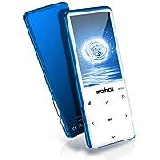 Lecteur MP3 MYMAHDI avec Bluetooth 4.2, Boutons tactiles avec écran de 2,4 Pouces, Lecteur Audio numérique Portable sans Perte de 16 Go avec Radio FM, enregistreur Vocal, Bleu