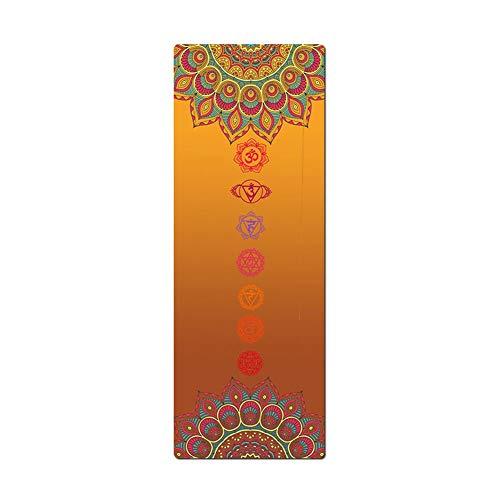 Yogamatte WGXYQ Fitnessmatte Ultradünne 1,2mm Nass Und Trocken rutschfest Licht Faltbar Naturkautschuk 185x68cm (Color : #7)