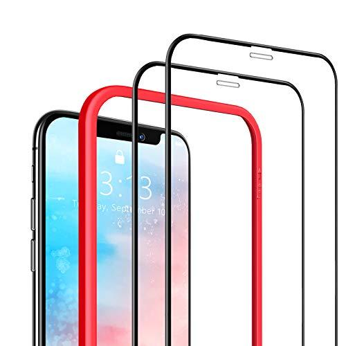 SAEYON [2 Pezzi Pellicola Protettiva in Vetro Temperato per Apple iPhone 11 PRO/XS/X, 3D Copertura Completa Schermo Protettivo 5,8 Pollic per Apple iPhone 11 PRO/XS/X con Kit di Installation, Nero