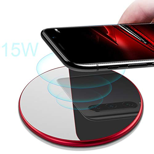 Kisshg Cargador inalámbrico Qi 3 en 1 10W Separado, para Huawei P30 Pro Samsung S10 Note10 Plus 7.5W para iPhone XR Slim Wireless Induction Charging Pad Dock