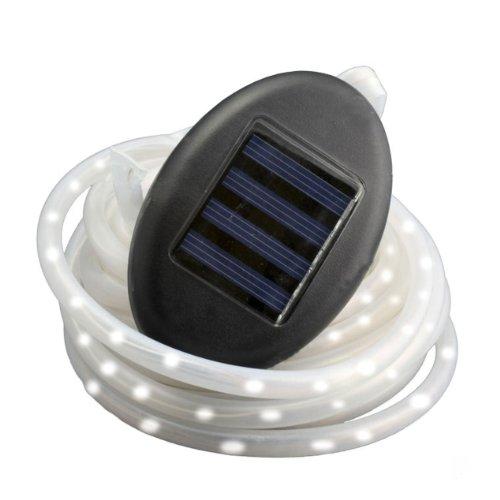 Lumière de corde de LED solaire, longueur = 7m, batterie, clignote et la fonction continue