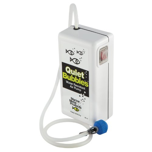 Marine Metal Aerator Quiet Bub 1.5V 33 Hrs W/2 'D' Battery