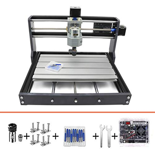 RATTMMOTOR CNC 3018 Pro Fräse Bausatz Mini CNC Fräse Graviermaschine 3 Achsen GRBL Steuerung ER11 Engraver Fräsmaschine für Holz PVC PCB DIY Gravierung