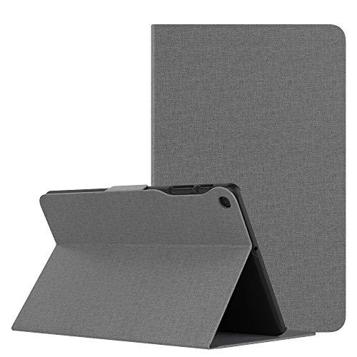 MoKo Funda Compatible con Samsung Galaxy Tab A 10.1 2019, Premium Cubierta Ligera Anti-Choque Stand Fución Case Cover Protector Compatible con Galaxy Tab A 10.1 Inch SM-T510/T515 2019 - Mezclilla Gris
