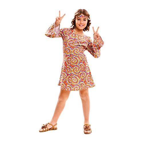 My Other Me Me-201977 Disfraz de hippie psicodélica para niña, color morado, 10-12 años (Viving Costumes 201977)