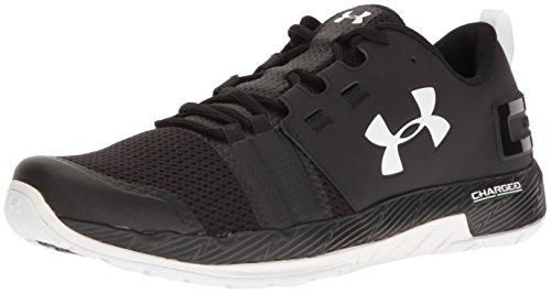 Under Armour Men's Commit Sneaker, Black (001)/White, 9.5