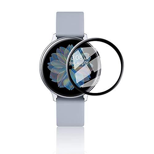 KONEE Panzerglas Schutzfolie Kompatibel mit Samsung Galaxy Watch Active 2 (40mm), 【2 Stück】 [ 9H-Härte, Anti-Kratzer, Blasenfrei, 3D Full Coverage ] Panzerglasfolie für Galaxy Watch Active 2 (40mm)