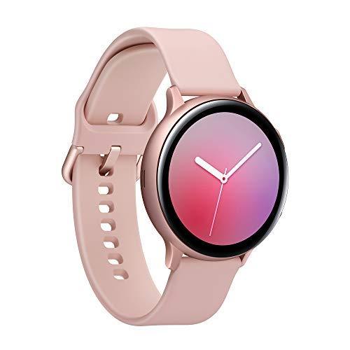 Samsung Galaxy Watch Active2 Smartwatch Bluetooth 44 mm in Alluminio e Cinturino Sport, con GPS, Sensore di Frequenza Cardiaca, Tracker Allenamento, IP68, Aluminium Rose Gold, Versione Italiana