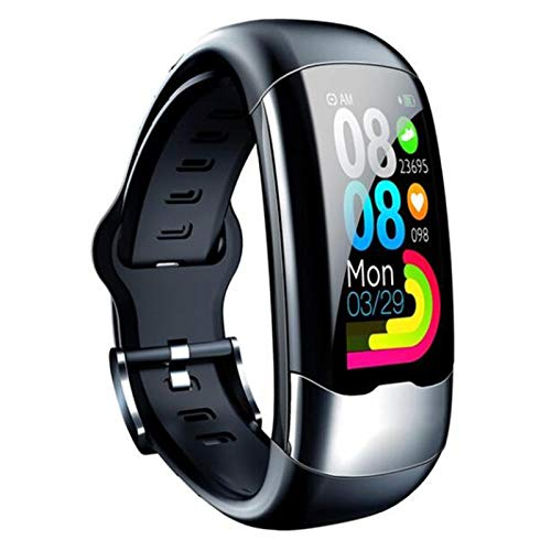 Ovovo Fitness Activity Tracker Watch with Heart Rate Blood Pressure Sleep Monitor Call Reminder Pedometer IP67 Waterproof Smart Fitness Wristband Compatible with Android iOS Devices Men Women Gift