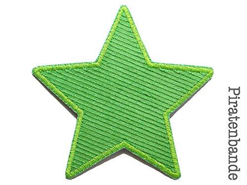 Stern Flicken Cord grün, Hosenflicken Bügelflicken für Cordhosen