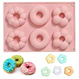 DAOSSU Silicone Donut Mold Fori Teglia per Ciambelle Ciambella Muffa Gadget Bagel Muffa Fare Torta Strumento Donut Teglia Ciambelle Stampo Muffa Creativa della Ciambella di DIY (1 Pezzo)