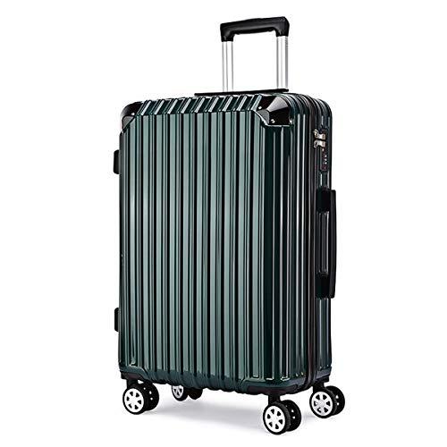 XIANGSHAN Estuche de Trolley for PC, Bolsa de Equipaje de súper Almacenamiento, Ruedas de Viaje, 20'22' 24'26' (Color : Silver, Size : 24inch)