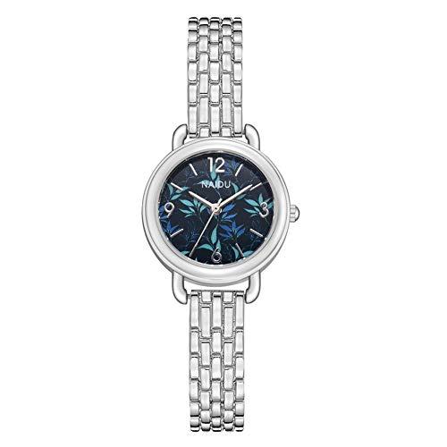 Reloj de pulsera analógico de cuarzo con correa de aleación de lujo casual para mujer (# 7)