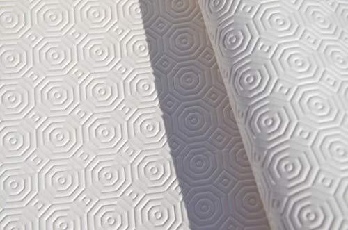 Sous nappe blanc TEKNIGOMME ep. 3,5 mm- Largeur 130 cm roulé sur tube (sans plis) (Carré 1,30 x 1,30 m)