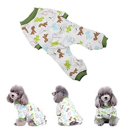 Welpe Cartoon Pyjama Katze Overall Kleines Haustier Baumwolle Kleidung weich Home Kostüm (M)