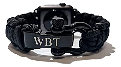 WATER BEAR TACTICAL 550 Paracord Band Made for Apple Watch 42mm