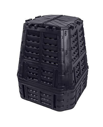Komposter 740L aus Kunststoff, Schnellkomposter mit Belüftungssystem, modular steckbar, für ideale Zersetzung