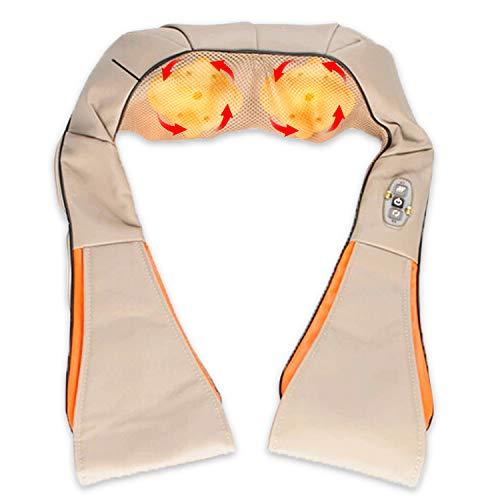 VINGO Nackenmassagegerät Infrarot Shiatsu Massagegerät 3D-Rotation Shiatsu Massage 8 rotierenden Massageköpfen Nackenmassage Für Büro Auto Shiatsu Massage