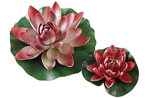 Hobby Seerose rot - künstliche Teichpflanze - 30 cm