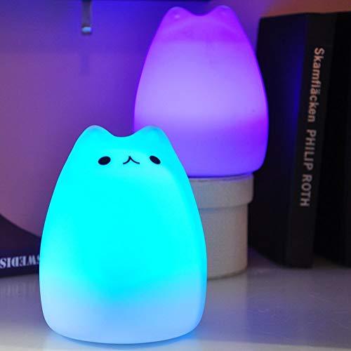 HONGYAN Silicone LED Night Light Rechargeable Touch Sensor Light 2 Modes Enfants Cute Night Lamp Bedroom Light