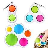 LGZIN Simple Dimple Fidget Toys, 3 Stück Sensorisch Spielzeug, Dimple Bubble Spielzeug, Simple Sensory Toys, Baby Sensory Toys, für Babys und Kleinkinder ab 6 Monaten