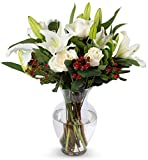 Benchmark Bouquets White Elegance, With Vase (Fresh Cut Flowers)
