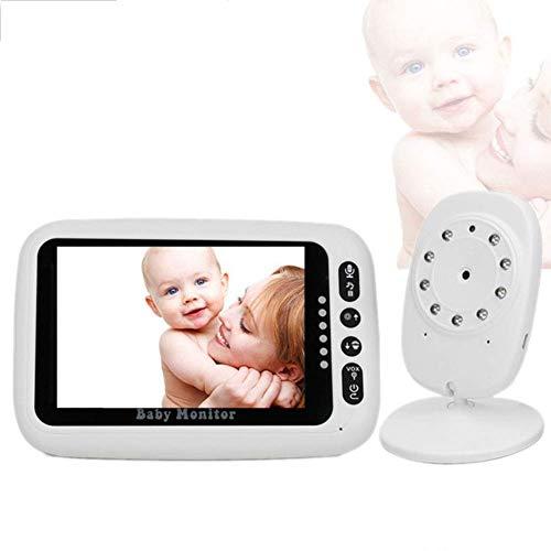 MYRCLMY Drahtloser Baby-Videomonitor mit Digitalkamera, 4,3-Zoll-Nachtsichtgerät und Zwei-Wege-LCD-Display-Temperatur-Baby-Pflege-Kindermädchen, 2,4-GHz-Funkübertragung