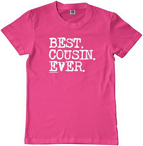 Threadrock Big Girls' Best Cousin Ever Youth T-shirt M Fuchsia