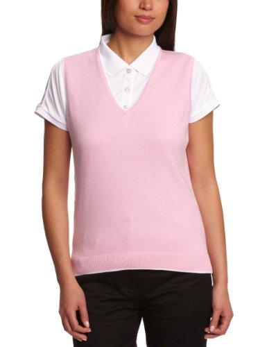 Green Lamb Damen-Pullunder Pink/White M