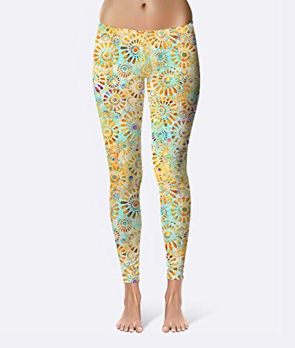 Batik Nautilus Premium Women's High Waist Leggings featuring original design by Artist Dan Morris