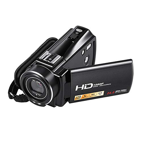 ZCFXGHH HD 1080P Digital Video Camera Camcorder 24MP 16X Digital Zoom Mini Video Camera Infrared Night Vision,This is The Best Gift for Meetings,Weddings,Travel,Vacation