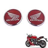 Pegatinas con logotipo redondo de ala 3D para motocicleta, calcomanía impermeable para tanque de carenado para HONDA CB CBR VFR 600400 1000 RR 1200 CR 125150200