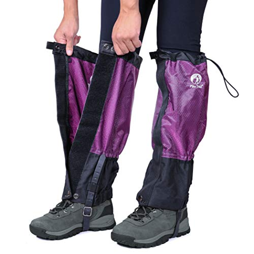 Pike Trail Leg Gaiters – Waterproof and Adjustable Snow Boot Gaiters for Hiking, Walking, Hunting, Mountain Climbing and Snowshoeing (Lavender Escape)