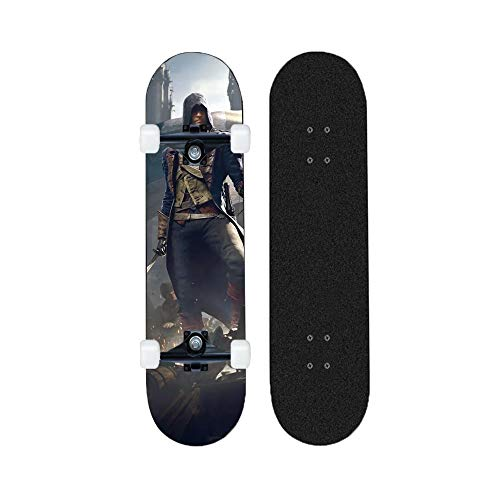 Yizhi Longboard Standard Skateboard Assassin'S Creed Four-Wheeled Scooter Principiantes Boys and Girls Professional Brush Street Board
