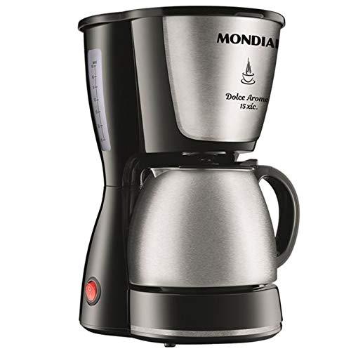 Cafeteira Elétrica Mondial, Dolce Arome Inox, 220V, Preto, 550W - C-34 JI 15X