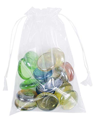 APQ Pack of 1000 Clear Drawstring Bags 5 x 8. Double Cotton Drawstrings Polyethylene Bags 5 x 8. 2 mil. Clear Plastic Bags for Packing and Storing. Ideal for Industrial and Promotional Use.