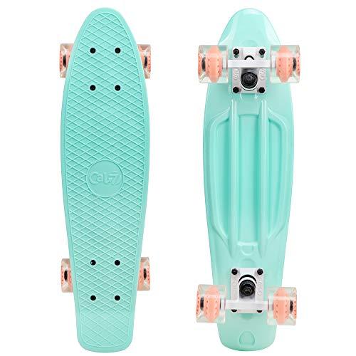 "Cal 7 22.5"" Complete Mini Cruiser Plastic Skateboard (Arcadia)"