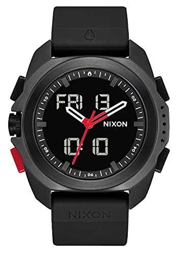 Nixon Herren Analog-Digital Japanisches Miyota Uhr mit Silikon Armband A1267008-00