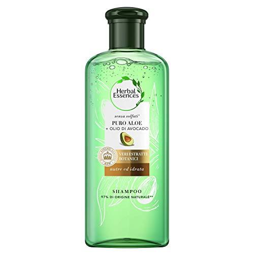 Herbal Essences Shampoo Senza Solfati Puro Aloe + Olio Di Avocado, In Collaborazione Con Royal Botanic Gardens, Kew, 225ml