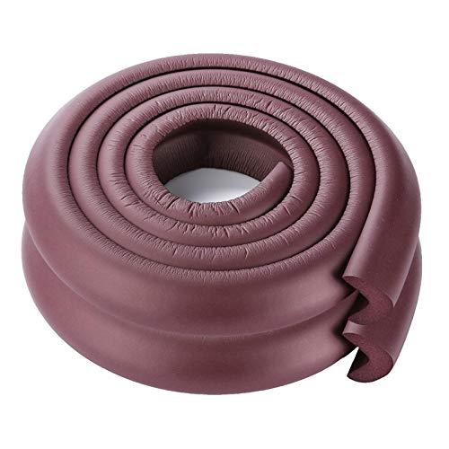 KOMOSO Pack de 2 protectores de esquina de 2 m en forma de L para niños sanos, color marrón